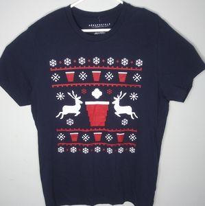 Aeropostale Holiday Short Sleeve T Shirt